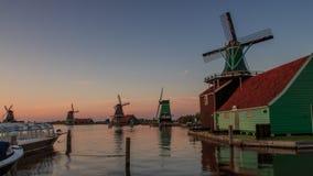 Windmills at sunset Royalty Free Stock Photo