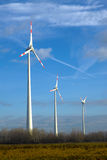 Windmills to generate electricity Royalty Free Stock Photography