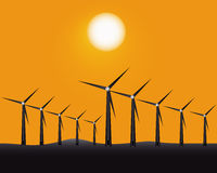 Windmills to generate energy Stock Images