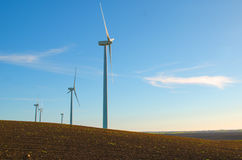 Windmills to generate wind power Stock Images