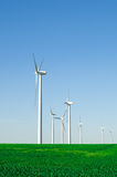 Windmills to generate wind power Stock Photography