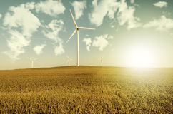 Windmills to generate wind power Royalty Free Stock Photography
