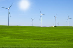 Windmills to generate wind power Stock Image