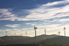 Windmills in the top of a montain Stock Image