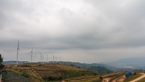 Windmills or wind turbine for generate clean electric power prod Stock Photography