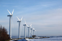 Windmills in windfarm Stock Photos