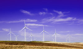 Windmills.Windfarm. Royalty-vrije Stock Foto's