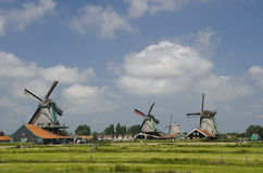 Windmills Zaanse Schan Royalty Free Stock Photo