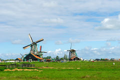 Windmills at the Zaanse schans Royalty Free Stock Image