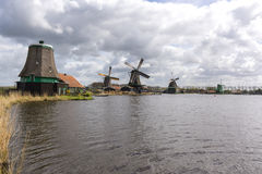 Windmills at Zaanse Schans Stock Photo