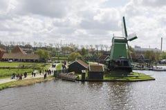 Windmills at Zaanse Schans Royalty Free Stock Photos