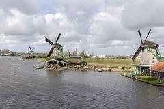 Windmills at Zaanse Schans Stock Image