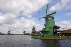 Windmills at Zaanse Schans Stock Photography