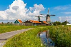 Windmills in Zaanse Schans, Holland, Netherlands Stock Images
