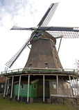 Windmills in Zaanse Schans museum Royalty Free Stock Photos