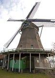 Windmills in Zaanse Schans museum Royalty Free Stock Photos