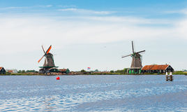 Windmills of the Zaanse Schans Royalty Free Stock Photography