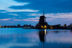 Windmills of the Zaanse Schans Royalty Free Stock Photos
