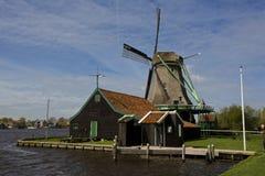 Windmills of Zaanse Schans, Netherlands. Windmills of Zaanse Schans on a sunny day in spring Stock Photography
