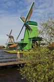 Windmills of Zaanse Schans, Netherlands. Windmills of Zaanse Schans on a sunny day in spring Royalty Free Stock Photography