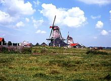 Windmills, Zaanse Schans. Stock Photography