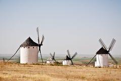 Windmils en el La Mancha Imagen de archivo