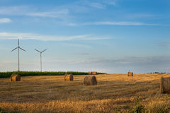 Windmils in the field Royalty Free Stock Photography