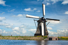 Windmils in Kinderdijk, Netherlands Stock Photography