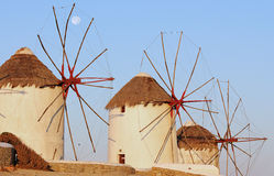 Windmils Mykonos Fotografia de Stock Royalty Free