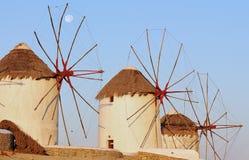 Windmils Mykonos Royalty Free Stock Photography