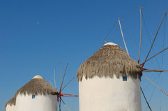 Windmils of Mykonos Island, Greece Royalty Free Stock Images