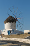 Windmils of Mykonos Island, Greece Stock Image