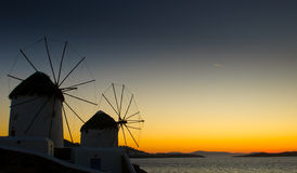 Windmils of Mykonos Island, Greece Stock Photography