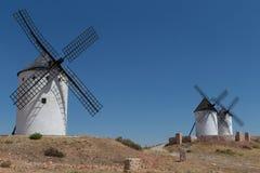 Windmilsl near Alcazar de San Juan Stock Photos