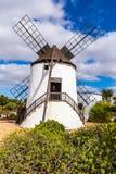 Windmolen-Antigua, Fuerteventura, Kanarie Isl , Spanje Royalty-vrije Stock Foto