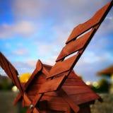 Windmolen Artistiek kijk in uitstekende levendige kleuren Royalty-vrije Stock Foto