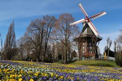 Windmolen in Bremen, Duitsland Royalty-vrije Stock Afbeeldingen