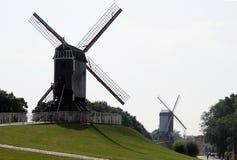 Windmolen in Brugge, België, Stock Afbeeldingen