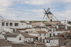 Windmolen in Castilla La Mancha Stock Foto