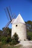 Windmolen in de Provence Stock Foto's
