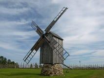 Windmolen en hemel Stock Fotografie