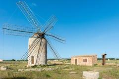 Windmolen in Formentera Stock Afbeelding