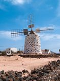 Windmolen, Fuerteventura Stock Foto