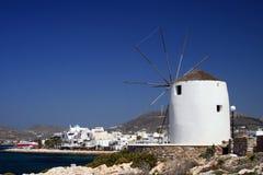 Windmolen, Griekenland Royalty-vrije Stock Afbeeldingen