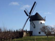 Windmolen in het platteland Stock Foto