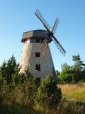 Windmolen in Hiiumaa Royalty-vrije Stock Afbeelding