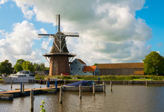 Windmolen in Holland Stock Afbeelding