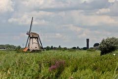 Windmolen in Kinderdijk stock fotografie