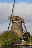 Windmolen in Kinderdijk (Nederland) Royalty-vrije Stock Afbeelding