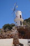 Windmolen Kreta Griekenland Stock Foto